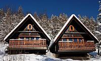 Zima na Sepetné v bungalovech