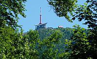 vrchol s vysílačem