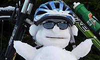 Cyklista sněhulák