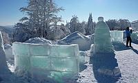 ledové sochy na Pustevnách
