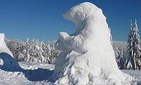 ledový medvěd na Pustevnách