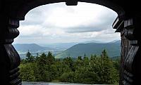 Výhled z věžičky kaple