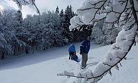 Zimní kouzlo medvědí stezky