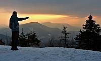 západ slunce nad Smrkem